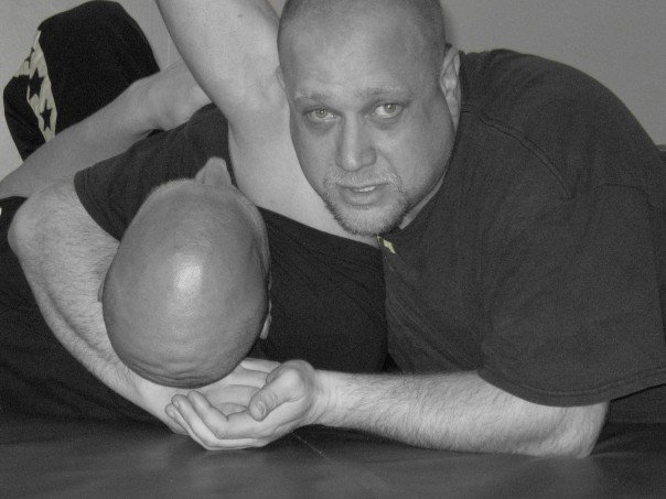 Rob applying a gentle Kata Gatame - Shoulder lock