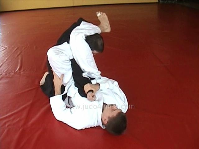 Click for a video showing a traditional Judo technique called Kakato Jime - Heel Choke, shown with two different entries