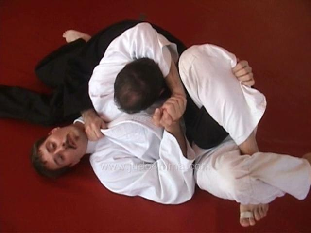 Click for a video showing a Judo technique called Kakure Garami - Kakure's version of kesa garami (scarf hold arm lock)