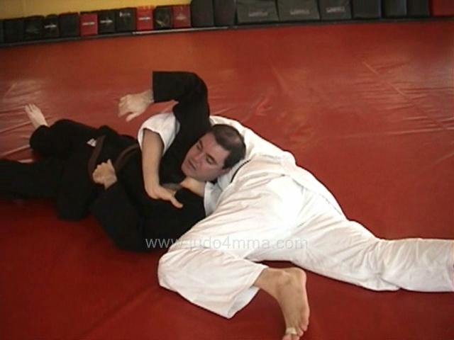 Click for a video showing our take on a Judo technique called Kakure Okuri Eri Jime - Kakure's sliding lapel choke