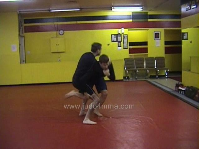 Click for a video showing a Judo for MMA technique called O Uchi Gari from Ippon Seoi Nage for MMA - Major Inner Reaping from One Arm Shoulder Throw for MMA
