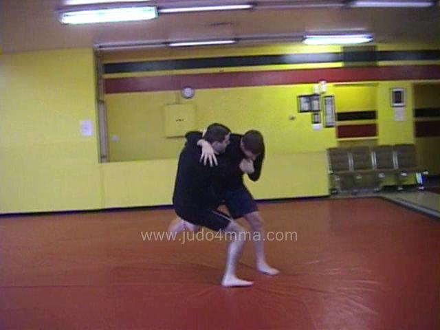 Click for a video showing a Judo for MMA technique called O Uchi Gari from Koshi Guruma for MMA - Major Inner Reaping from Loin Wheel for MMA
