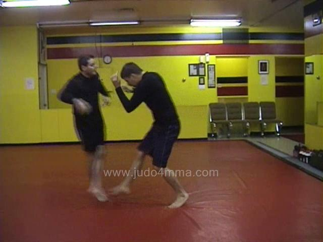 Click for a video showing a Judo for MMA technique called Reversed De Ashi Harai for MMA - Reversed Advanced Foot Sweep for MMA