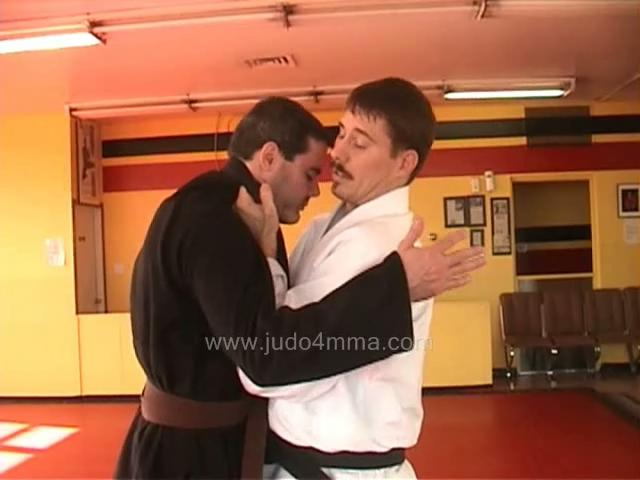 Click for a video showing a traditional Judo technique called Ryote Jime - Front Two Hands Choke