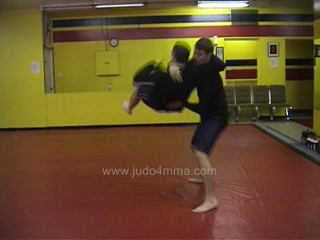 Click for a video showing a Judo for MMA technique called Ushiro Goshi for MMA - Rear Hip for MMA