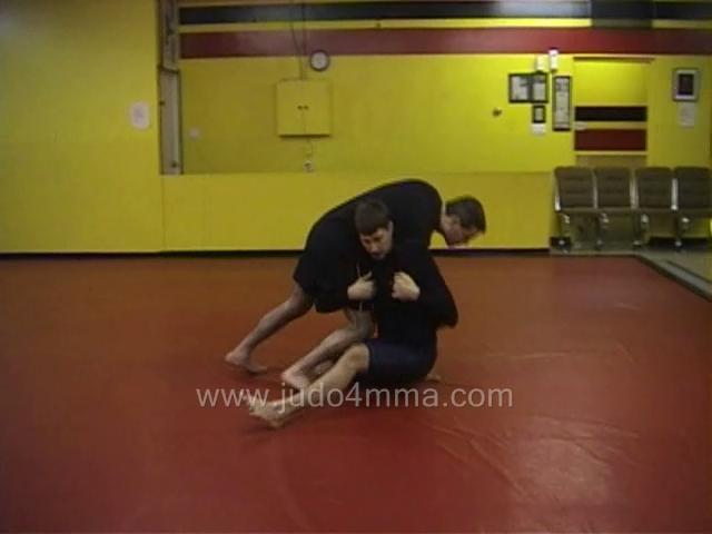 Click for a video showing a Judo for MMA technique called Yoko Kata Guruma for MMA - Side Shoulder Wheel for MMA