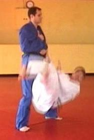 Click for a Traditional Judo Video showing a judo breakfall Drill for Yoko Ukemi or Chugaeri - side breakfall or shoulder rolling breakfall.